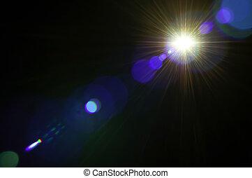 lumière, résumé, fond, flamme