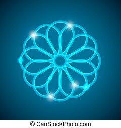 lumière, résumé, mandala., fond, géométrique