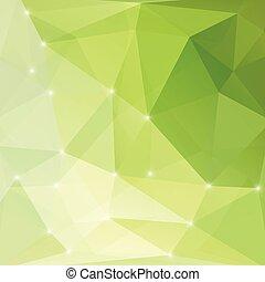 lumière, résumé, moderne, arrière-plan vert