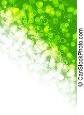 lumière, résumé, vert, barbouillages