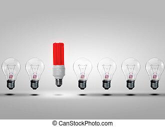 lumière, rang, ampoules