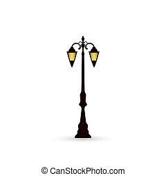 lumière, rue, icône