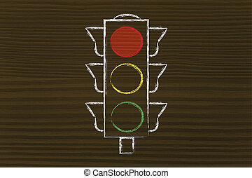 lumière, rue, rouges