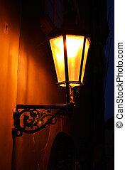 lumière, rue, vieux façonné