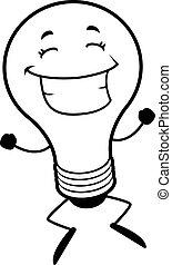lumière, sauter, ampoule