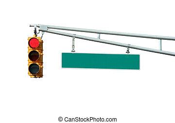 lumière, signal, isolé, signe, trafic, rouges