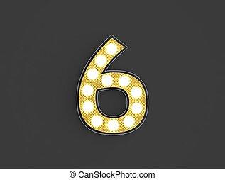 lumière, six, nombre, vendange