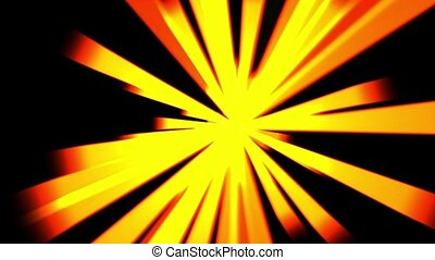 lumière soleil, laser., lumière, doré, raie, ciel, &, rayons