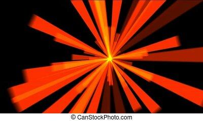 lumière soleil, lumière, raie, rouges, rayons