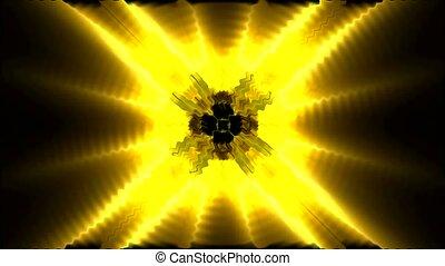 lumière soleil, rayon, doré, lumière, fantaisie