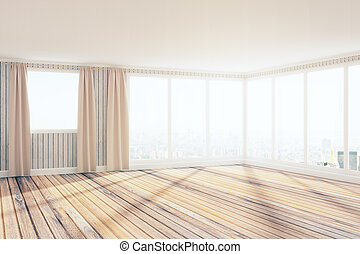 lumière, spacieux, intérieur