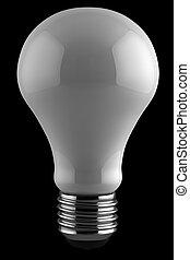 lumière, sur, noir, ampoule