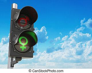 lumière, symbole, hommes, trafic, genre, femmes