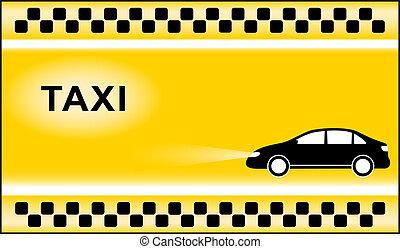 lumière taxi, fond, symboles, taxi