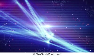 lumière, technologie, réseau, raies