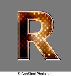 lumière, texture, incandescent, r, lettre, noël