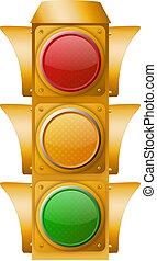 lumière, trafic, jaune