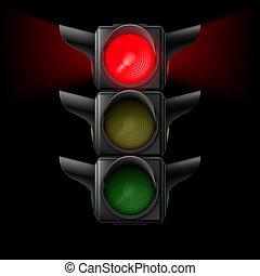 lumière, trafic, rouges