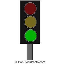 lumière, trafic, vert
