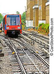 lumière, train, rail