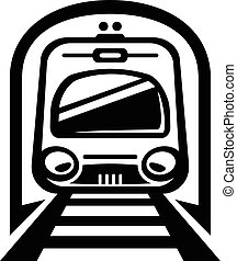 lumière, train, rail, vecteur, voiture métro