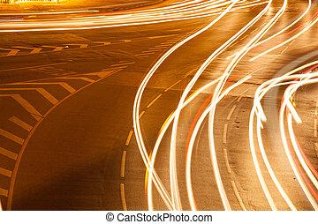 lumière, véhicule, traffic.