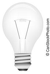 lumière, vecteur, ampoule