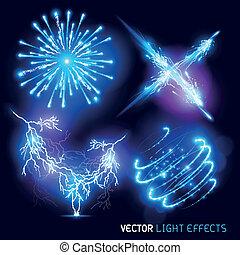 lumière, vecteur, effets