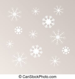 lumière, vecteur, flocons neige, fond