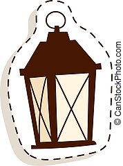 lumière, vecteur, rue, illustration.