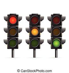 lumière, vecteur, sequence., trafic