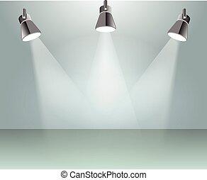 lumière, vecteur, tache, illustration