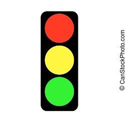lumière, vecteur, trafic