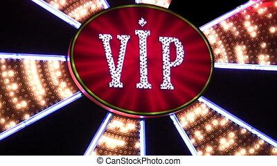lumière, vip, casino, néon