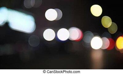 lumière, voitures, trafic, barbouillage, lights.