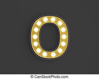 lumière, zéro, nombre, vendange