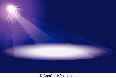 lumières étape, salle