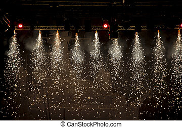 lumières, étincelant, théâtre