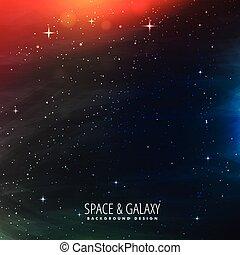 lumières, étoiles, coloré, espace