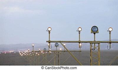 lumières, aéroport