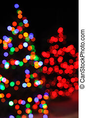 lumières, arbre, defocused, noël