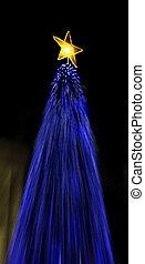 lumières, arbre noël