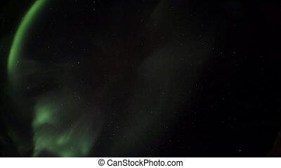 lumières, arctique, ciel, nord