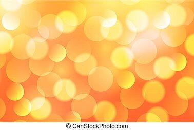 lumières, arrière-plan orange