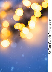 lumières, art, noël, fond, fetes