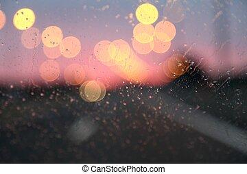 lumières, autoroute