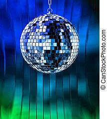 lumières, balle, disco