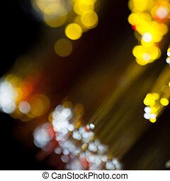 lumières, barbouillage, nuit