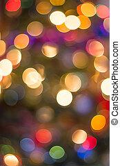 lumières, bokeh, chrismas
