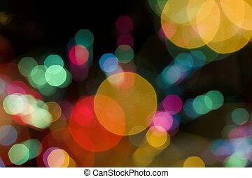 lumières, bokeh, fond